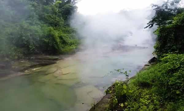 boiling water river